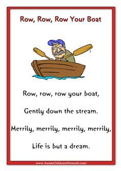 Row Your Boat Song Meaning by Nursery Rhymes On Pinterest Nursery Rhymes Worksheets