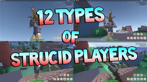 types  strucid players roblox youtube