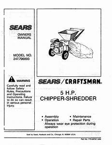 Craftsman 5hp Chipper Shredder Parts