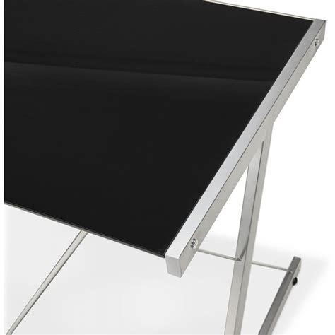 plateau bureau angle bureau verre noir bureau plateau verre noir oskar achat