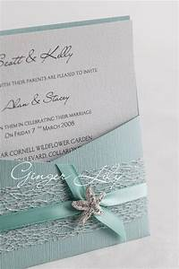 Beach wedding invitation diy kit reef moonstone pocket for Homemade beach wedding invitations