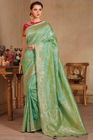 pastel color silk indian wedding saree