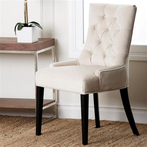 abbyson living napa fabric tufted dining chair overstock