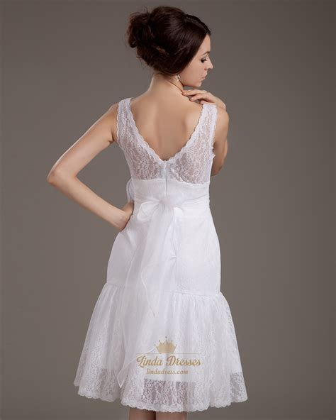 Unique Vintage Lace Deep V Back Wedding Dresses With