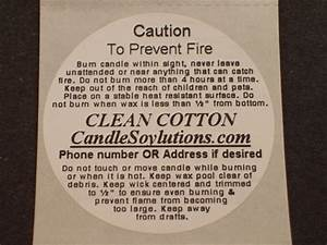 standard and custom candle incense and product caution With custom candle warning labels