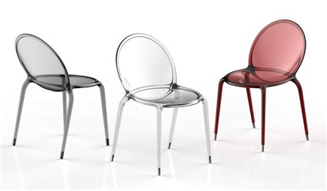 chaises polycarbonate chaise empilable en polycarbonate loop by roche bobois