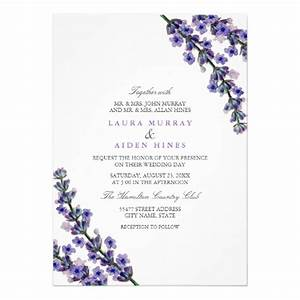 elegant lavender wedding invitation zazzle With lavender themed wedding invitations