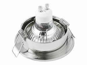 Gu 10 Leuchtmittel : led einbaustrahler neutralwei gu10 6w 230v edelstahl optik rund schwenkbar ~ Markanthonyermac.com Haus und Dekorationen
