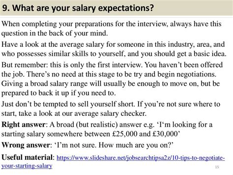 interview salary expectations job answers questions attendant flight slideshare request tips