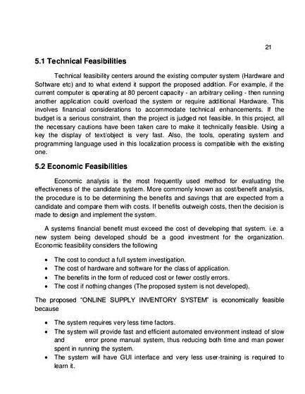 sample thesis proposal  inventory system