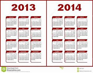 Calendar 2013,2014 stock vector. Illustration of template ...