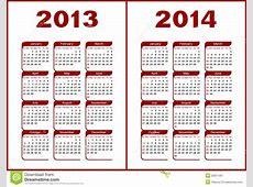 Calendar 2013,2014 stock vector Illustration of template