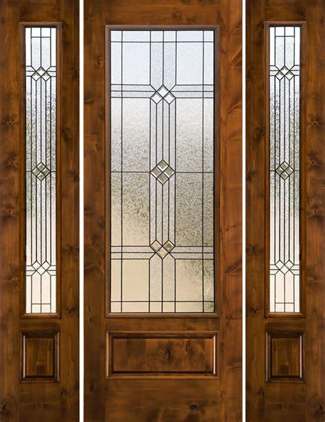 rustic front doors rustic glass doors knotty alder with 2 sidelites sw250
