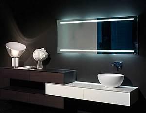 Miroir Étagère Salle De Bain : miroir salle de bain lumineux et clairage indirect en 50 id es ~ Melissatoandfro.com Idées de Décoration
