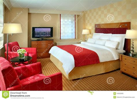 hotel room interior stock image image  feng bedding