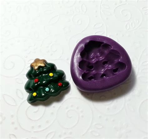 cute christmas tree silicone mold mould mm simply molds