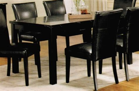 black marble kitchen table dining table with black faux marble top in black finish