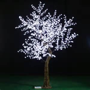 wholesale white cherry blossom led tree for wedding desktop centerpiece decoration lighted