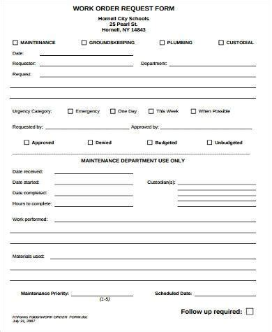 sle work request forms 9 free documents in word pdf
