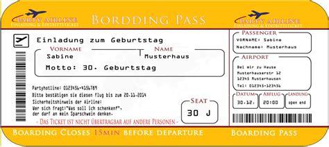 einladungskarte als flugzeug flugticket  cards
