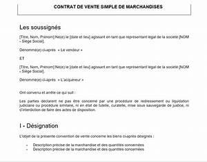 Document Vente Véhicule Particulier : mod le d 39 un contrat de vente ~ Gottalentnigeria.com Avis de Voitures