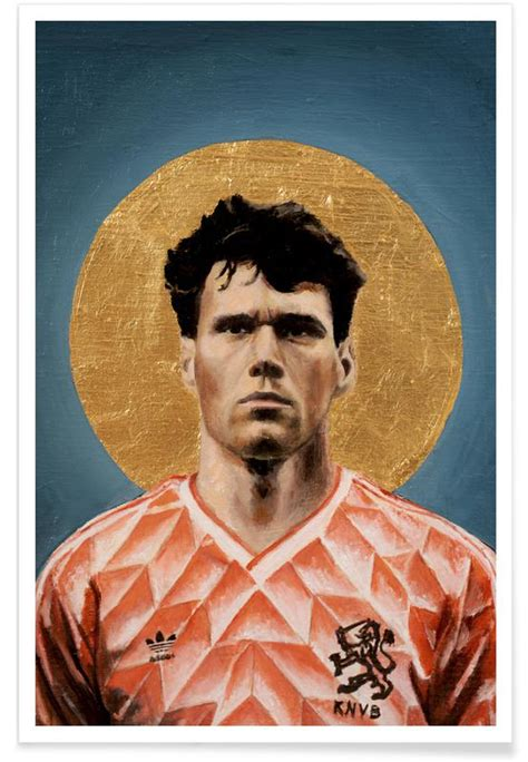 football icon marco van basten  premium poster juniqe