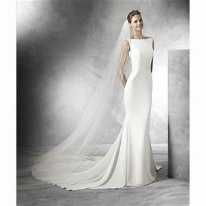 tatiana shop sample wedding dress in crepe with v back detail With sample wedding dresses