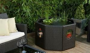Bac Rectangulaire Pour Bambou : mini bassin pour rafra chir le balcon en 26 id es ~ Nature-et-papiers.com Idées de Décoration