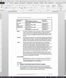 engineering change document change control procedure With documents management procedure