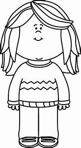 Little Boy And Girl Black And White Clipart (46+)