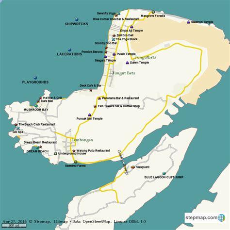 stepmap nusa lembongan landkarte fuer world