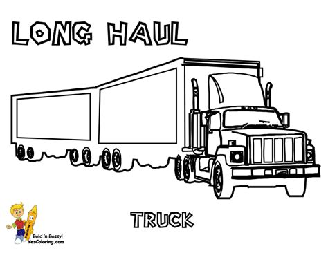 free coloring pages of kenworth semi trucks - Semi Truck Trailer Coloring Pages
