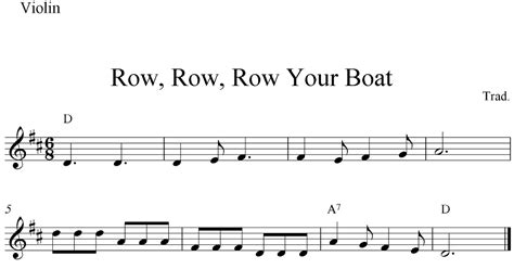 Row Row Your Boat Guitar by Free Printable Sheet Row Row Row Your Boat Free