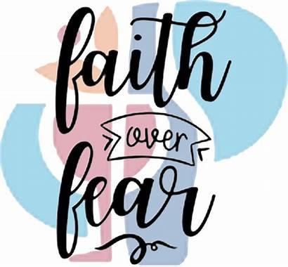 Fear Faith Signs Wood Creative Boards Rustic