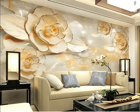 wallpaper bedroom mural roll modern luxury flower