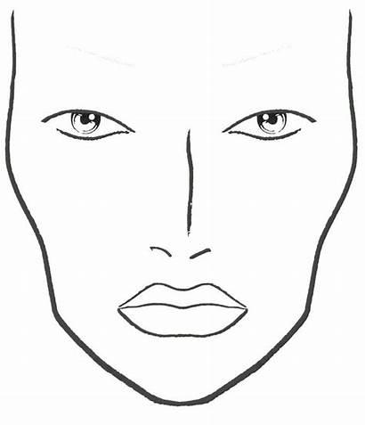 Face Blank Makeup Chart Charts Printable Template