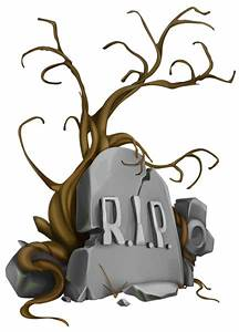 Halloween RIP Tombstone and Tree PNG Clipart Image ...