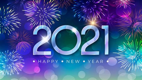 Happy New Year 2021 Blue Hd Wallpaper For Laptop And ...