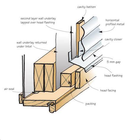 timber windows  profiled metal cladding branz build