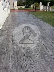 Béton Désactivé Gris : b ton imprim b ton estamp prix sol imprim ~ Melissatoandfro.com Idées de Décoration