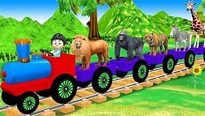 Animals Train Video For Kids
