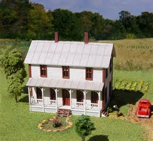 one story house plans with porches n scale structure kits