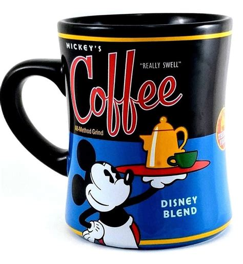 """Mickey's really swell coffee mug cup set lot 2 minnie mouse disney parks blend 