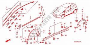 Molding  Side Sill Garnish For Honda Cars Civic 1 8 Base 3