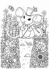 Coloring Mouse Pages Adult Printable Children Animals Coloringbay Justcolor sketch template
