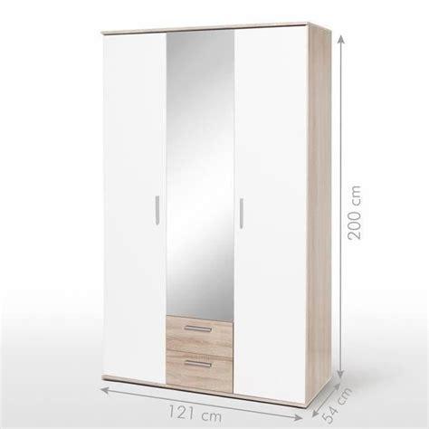 armoir de chambre pas cher finlandek armoire selkeä 120cm blanc chêne achat vente