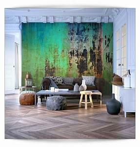 3d Tapete Schlafzimmer : details zu vlies fototapete rost gr n 3d metalwand tapete ~ Lizthompson.info Haus und Dekorationen