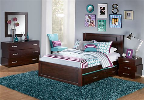 Rooms To Go Kids : Quake Cherry Pc Twin Panel Bedroom-twin Bedroom Sets