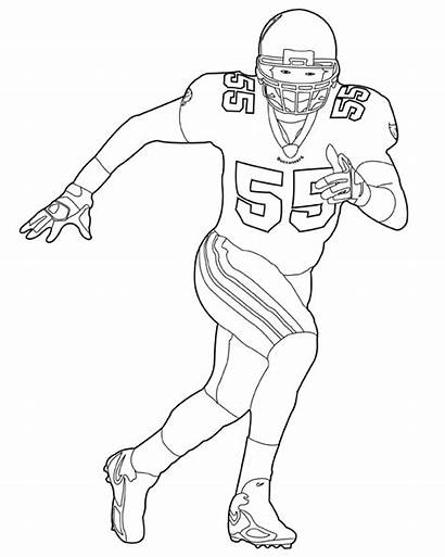 Coloring Football Player Nfl Players Pages Printable