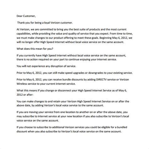 sample customer   letter templates
